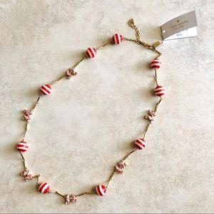 Kate Spade NECKLACE OUT OF THE LOOP STRIPES & BOWS